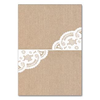 Tarjetas del lugar de la tabla del boda del tapeti