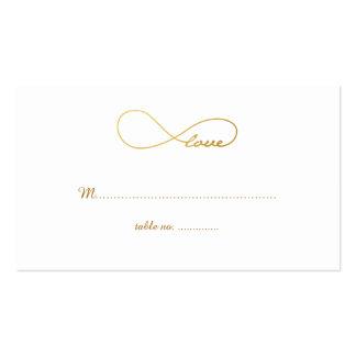 Tarjetas del lugar de la tabla del boda del tarjetas de visita