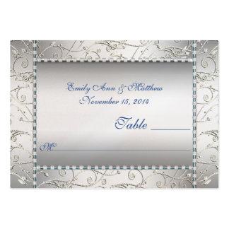 Tarjetas del lugar de la tabla del remolino del az tarjetas de negocios