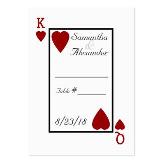 Tarjetas del lugar de la tabla del rey/de la reina tarjetas de visita grandes