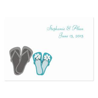 Tarjetas del lugar de los flips-flopes de la playa tarjeta de visita