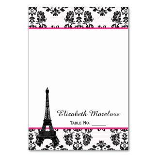 Tarjetas del lugar de tienda de la torre Eiffel