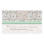Tarjetas del lugar del asiento del boda del cordón plantilla de tarjeta de negocio