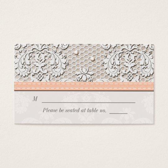 Tarjetas del lugar del asiento del boda del cordón tarjetas de visita