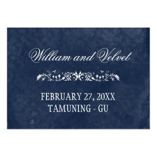 Tarjetas del lugar del boda de la acuarela tarjetas de visita grandes