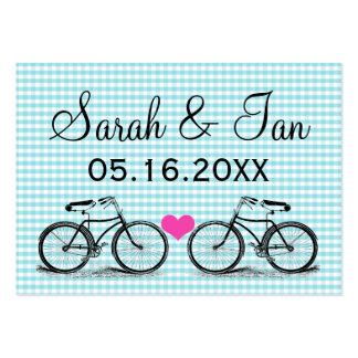 Tarjetas del lugar del boda de la bicicleta del vi tarjetas de visita