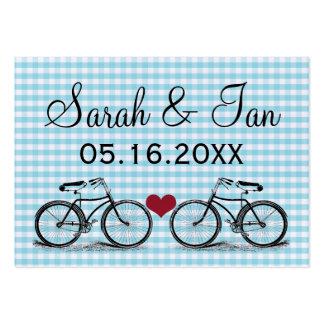 Tarjetas del lugar del boda de la bicicleta del vi tarjetas personales