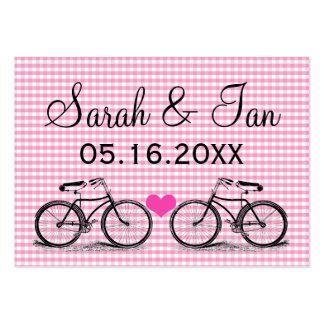 Tarjetas del lugar del boda de la bicicleta del vi tarjeta de visita