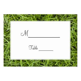 Tarjetas del lugar del boda de la hierba verde tarjetas de visita grandes