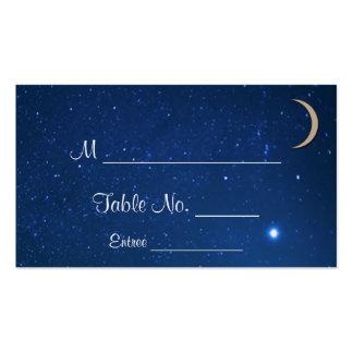 Tarjetas del lugar del boda de la noche estrellada tarjetas de visita