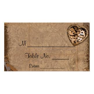 Tarjetas del lugar del boda de la novia de tarjetas de visita