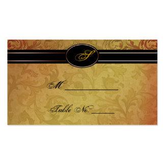 Tarjetas del lugar del boda de la regencia de la tarjetas de visita