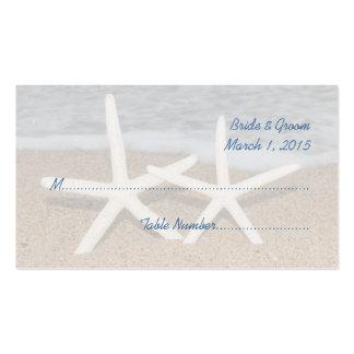 Tarjetas del lugar del boda de las estrellas de tarjetas de visita