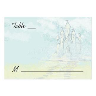 Tarjetas del lugar del boda de playa del castillo tarjeta de visita