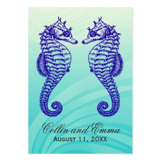 Tarjetas del lugar del boda de playa del Seahorse Tarjetas De Visita Grandes