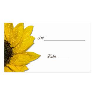 Tarjetas del lugar del boda del girasol o de la tarjetas de visita