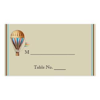 Tarjetas del lugar del boda del globo del aire cal tarjetas de visita