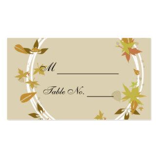 Tarjetas del lugar del boda del monograma de la gu tarjetas de visita