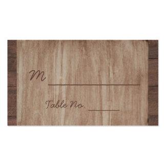 Tarjetas del lugar del boda del país de madera y tarjetas de visita