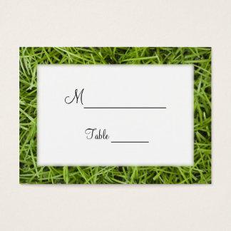 Tarjetas del lugar del boda del patio trasero de tarjetas de visita grandes