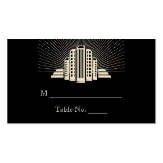Tarjetas del lugar del boda del rayo de la torre d tarjetas de visita