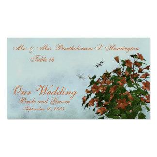 Tarjetas del lugar del boda tarjetas de visita