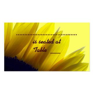 Tarjetas del lugar del girasol plantillas de tarjetas de visita