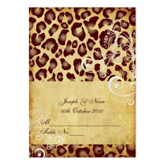 Tarjetas del lugar del leopardo del vintage de Pix
