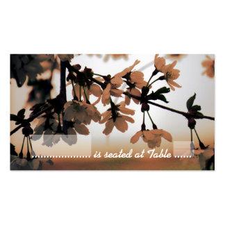 Tarjetas del lugar del melocotón de la luz suave plantillas de tarjetas personales