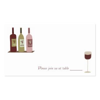 Tarjetas del lugar del vino tarjetas de visita