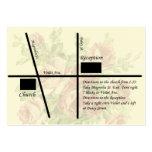 Tarjetas del mapa de la recepción nupcial del vint plantillas de tarjetas de visita