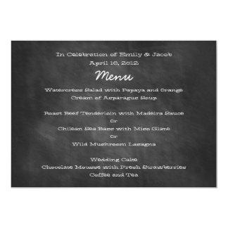 Tarjetas del menú del boda de la pizarra anuncio
