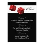 Tarjetas del menú del boda de Las Vegas Invitaciones Personales