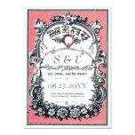 Tarjetas del menú del boda del jardín del vintage comunicado personalizado