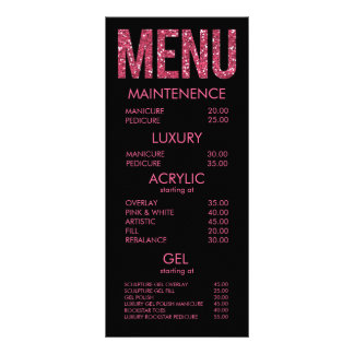 Tarjetas del menú del salón de la tipografía del b diseños de tarjetas publicitarias