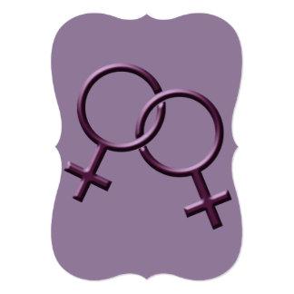Tarjetas del mismo sexo del amor de las invitación