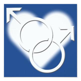 Tarjetas del mismo sexo del amor de las invitaciones personales