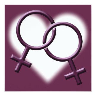 Tarjetas del mismo sexo del amor de las comunicado personalizado