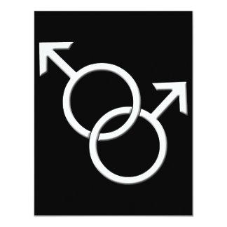 Tarjetas del mismo sexo del amor de las anuncio personalizado