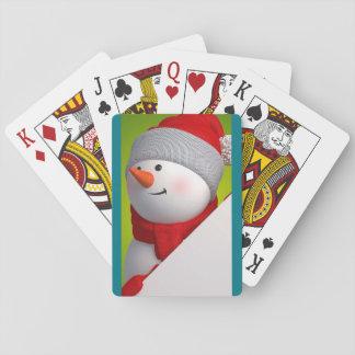 Tarjetas del muñeco de nieve cartas de póquer