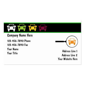 Tarjetas del negocio automovilístico plantillas de tarjeta de negocio