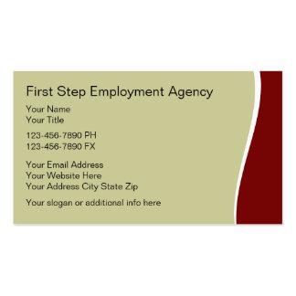 Tarjetas del negocio de representación del empleo tarjetas de visita