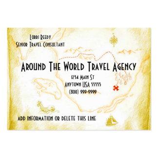 Tarjetas del negocio de representación del viaje tarjetas de visita grandes