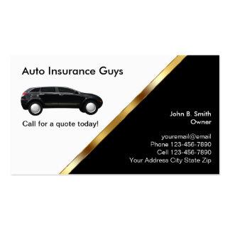 Tarjetas del negocio de seguros autos tarjetas de visita