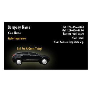 Tarjetas del negocio de seguros tarjetas de negocios