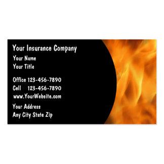 Tarjetas del negocio de seguros tarjetas de visita