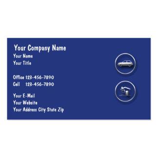 Tarjetas del negocio de seguros tarjetas personales