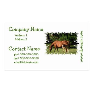 Tarjetas del negocio familiar del caballo tarjetas de visita