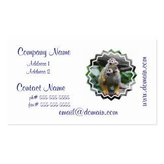 Tarjetas del negocio familiar del mono de ardilla tarjetas de visita