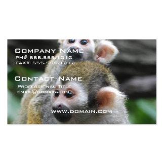 Tarjetas del negocio familiar del mono de ardilla tarjeta de visita